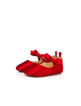 Loubi Red Baby Shoes by Christian Louboutin