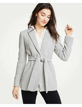 Petite Belted Blazer by Ann Taylor