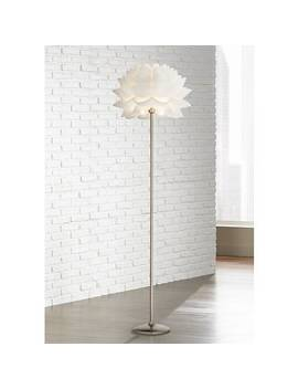 Possini Euro Design White Flower Floor Lamp by Lamps Plus