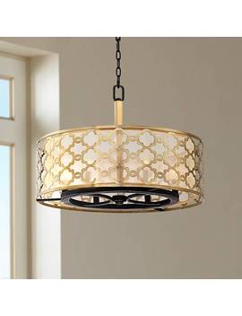 "Possini Euro Lata 24 1/2"" Wide Antique Brass Pendant by Lamps Plus"