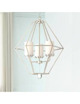 "Garnett 22 1/2"" Wide Brushed Nickel 3 Light Foyer Chandelier by Lamps Plus"