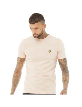 Lyle And Scott Vintage Mens Fern Print T Shirt Dusty Pink by Lyle And Scott Vintage