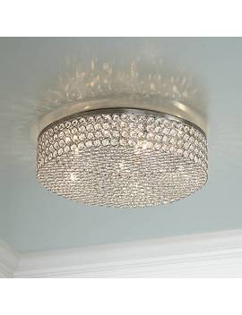 "Velie 16"" Wide Round Crystal Ceiling Light by Lamps Plus"