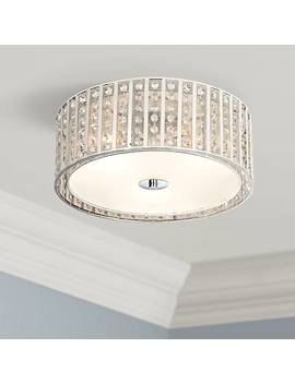 "Possini Euro Crystal Strands 15 3/4"" Wide Drum Ceiling Light by Lamps Plus"