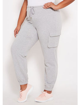 Cargo Pocket Active Jogger by Ashley Stewart