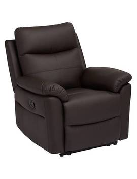 Newport Brown Recliner Chair by Lamps Plus