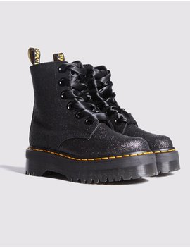 Dr Martens Molly Glitter Black Boots by Lazy Oaf