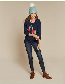 Alpaca Placement Christmas Jumper by Fat Face