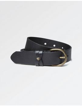 Heart Stud Leather Belt by Fat Face