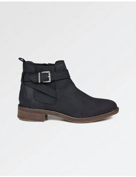 Newham Strappy Nubuck Chelsea Boots by Fat Face