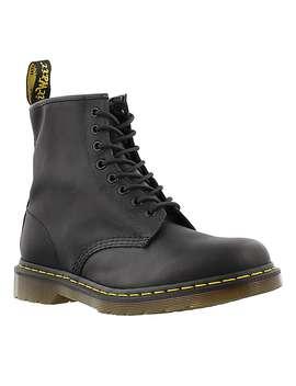 Men's 1460 8 Eye Black Matte Leather Boots by Dr Martens