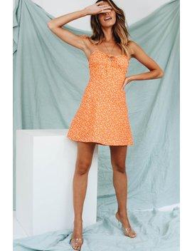 Escape To Paris Tie Mini Dress // Orange by Vergegirl