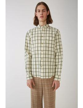 Classic Fit Shirt White/Green by Acne Studios