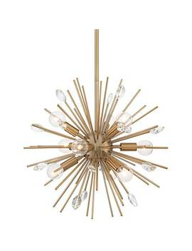 "Possini Euro Janae 18""W Antique Gold Sputnik Pendant Light by Lamps Plus"