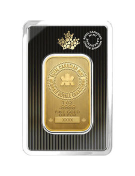 1 Oz 2018 Gold Bar   Rcm .9999 Gold New Design In Assay   Royal Canadian Mint by Royal Canadian Mint