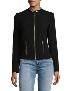 Collarless Zip Jacket by Calvin Klein