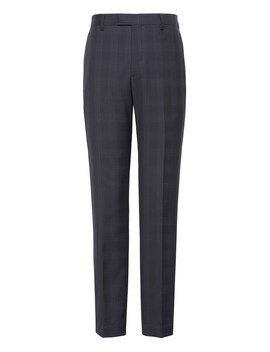Slim Plaid Italian Wool Suit Trouser by Banana Repbulic