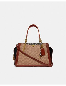 Dreamer In Signature Canvas With Snakeskin Detail by Coach