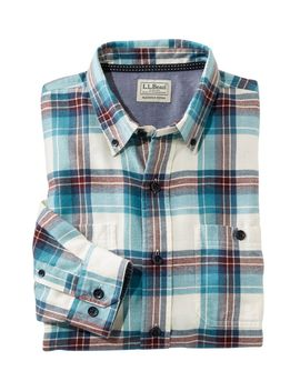 Rangeley Flannel Shirt Long Sleeve Slightly Fitted Plaid Men's Reg by L.L.Bean