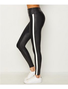 Faux Leather Side Stripe Leggings by Spanx