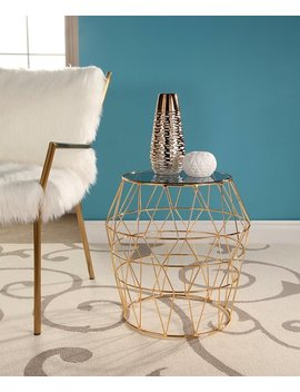 Gold Lillian End Table by Zulily