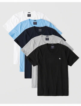 5 Pack Icon V Neck Tee by Abercrombie & Fitch
