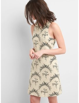 Sleeveless Fit And Flare Dress In Linen by Gap