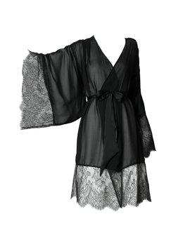 Noir Silk Kimono by Maison Nouvelle