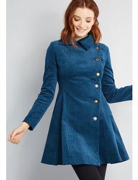 Pleasantly Poised Velvet Coat by Joe Brown