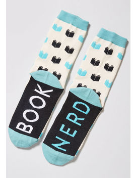 Bold Bibliophile Socks by Out Of Print