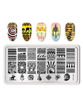 born-pretty-stamping-template-aztec-egypt-nail-art-stamp-template-rectangle-image-plate--bp-l010 by born-pretty