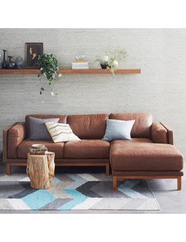 dekalb-leather-2-piece-chaise-sectional by west-elm