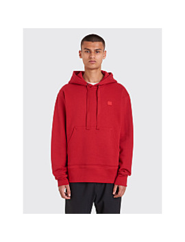 Acne Studios Ferris Face Sweatshirt Ruby Red by Très Bien