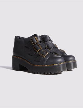 Dr Martens Coppola Black Ankle Boots by Lazy Oaf