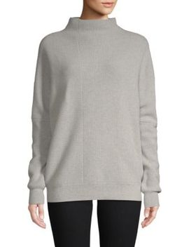 Directional Ribbed Funnelneck Cashmere Sweater by Cashmere Saks Fifth Avenue