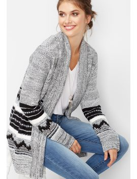 Nordic Open Front Cardigan by Maurices