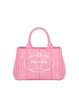 Fabric Printed Tote by Prada