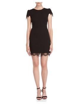 Lace Trim Sheath Dress by Betsey Johnson