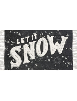 Let It Snow Christmas Rug 27x45 In. by At Home