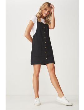 Denim Button Through Dress by Cotton On