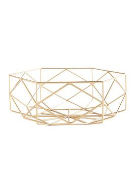 Golden Geometric Metal Bowl by Pier1 Imports