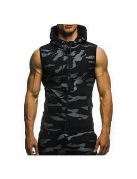 "<P>2018 New Camouflage Digital Printing Zipper Casual Slim Sleeveless Hoodie</P><I Class=""Icon Down Js Tap Up Down""></I> by Dress Lily"