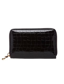 Faux Crocodile Zip Wallet by Charlotte Russe