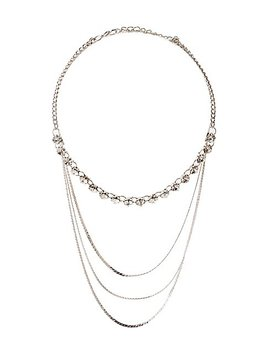 Crystal &Amp; Snake Chain Layered Necklace by Charlotte Russe