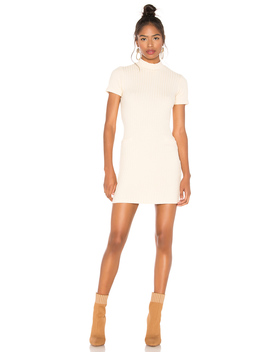 Chunky Rib Mock Neck Mini Dress by Monrow