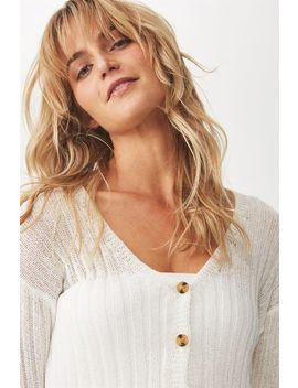 Maddy Button Through Chopped Cardi by Cotton On