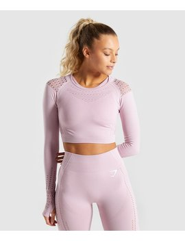 Flawless Knit Long Sleeve Crop Top by Gymshark