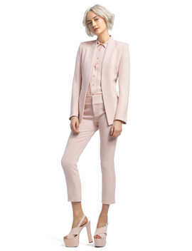 Jerri Long Collarless Blazer by Alice And Olivia