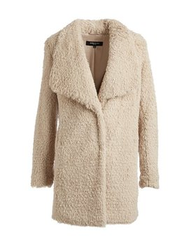 Ivory Faux Fur Coat by Zulily