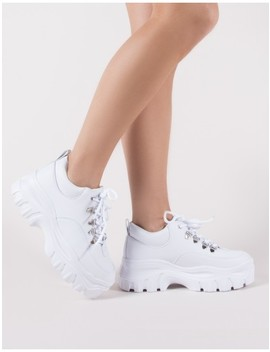 Vouch Chunky Trainers In White by Public Desire